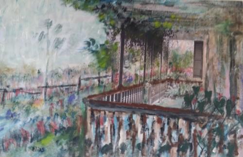 Memórias de Tebas, cidade em que nasceu, são tema para seus quadros