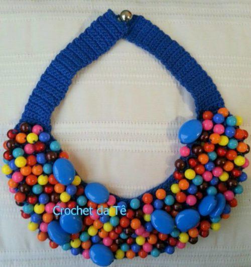 8 - colar azul