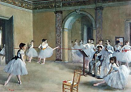 3 - dance class edgar degas 1871 - Romantismo