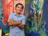 Ator Chico Diaz apresenta suas pinturas em exposição na Lapa (RJ)