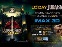 """""""UCI DAY Jurassic"""" exibirá o primeiro Jurassic Park para celebrar os 25 anos da franquia"""