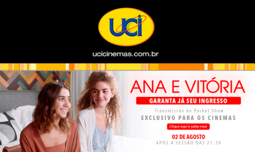 """d2ff8e3e8b314 Ana Caetano e Vitória Falcão estreiam nos cinemas brasileiros no dia 2 de  agosto com a comédia romântica musical """"Ana e Vitória"""" e a Rede UCI já está  com ..."""