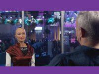 Programa 'Fantástico' da Rede Globo entrevista a robô Sophia
