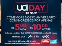 UCI DAY acontece dia 12 de novembro e traz grandes clássicos do cinema.