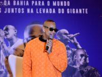 Léo Santana grava DVD 'Levada do Gigante' em São Paulo