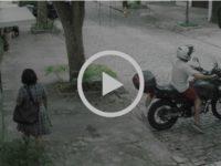 """Dona Marilene é """"engolida"""" pelo portão novamente em ação realizada pelo Telecine"""