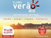 Claro Verão Rio realiza shows gratuitos em Ipanema até 20 de janeiro
