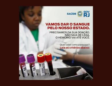 HEMORIO EM CASA: Ação facilita a participação dos doadores de sangue em isolamento social