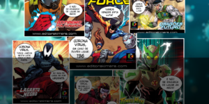CAMPANHA PELA VIDA:  Iniciativa da Editora Kimera utiliza vários personagens de Quadrinhos no combate contra o Coronavírus