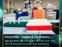 POSSÍVEL CURA A CAMINHO : Universidade de Oxford já informou que uma vacina promissora pode ficar pronta em setembro. Ela treina o organismo contra o COVID-19!