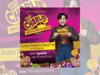 """""""Charlie – O Musical"""": No espetáculo, João Pedro Delfino dará vida a Charlie"""