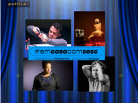"#EMCASACOMSESC – TEATRO: ""SESC Ao Vivo – Teatro"" Apresenta Gustavo Gasparini, Lavínia Pannunzio, Grace Passô e Denise Weinberg"