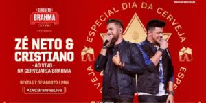 """""""Alô, Ambev"""": No Dia Internacional da Cerveja, Brahma e Zé Neto e Cristiano confirmam live dentro da cervejaria"""