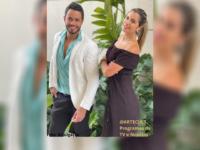 """Sem limites: Juliana Kelling e Leon Borghes comemoram o sucesso do quadro exibido em """"Os donos da bola"""" da Band TV Rio."""