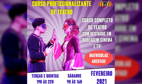 UP ARTS: Matrículas abertas para o Curso Profissionalizante de Teatro de Campinas