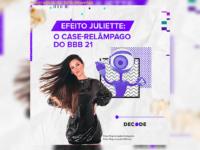 O fenômento Juliette Freire: A BBB-fenômeno das redes sociais, tem crescimento de 14.074% em número de seguidores.