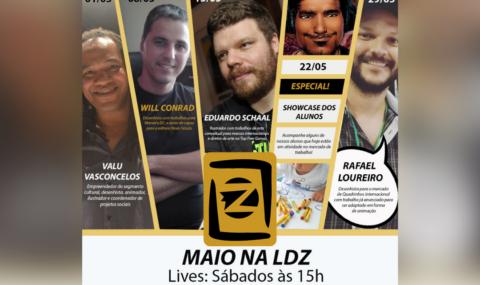 LDZ Escola de Artes Visuais: Confira a programação dessa semana e das lives de maio na estreia da coluna da LDZ !