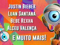 BBB21 – Festa 'Memórias' terá apresentações de Justin Bieber, Bebe Rexha, Alceu Valença e muito mais!
