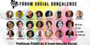 Neste final de semana, 31 de julho, começa o seminário do FOSG – Fórum Social Gonçalense