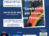 Sambando em Verso, em Prosa… :  Wesley Nóog lança seu primeiro livro em live no próximo dia 1º de outubro