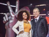 Tiago Leifert, Andre Marques e Jeniffer Nascimento celebram décima temporada do 'The Voice Brasil', que esteia hoje